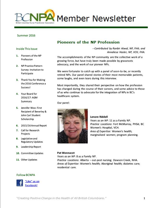 Newsletter Summer-2015